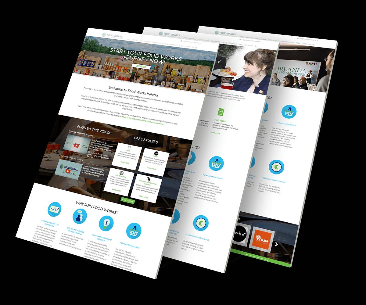 Parallax website development