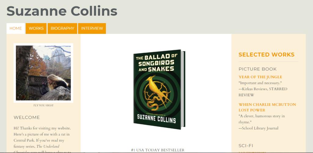 Suzanne Collin's Book