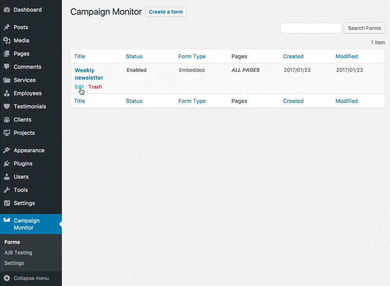Campaign-Monitor Tool